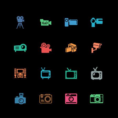 sparare: riprese di film icona televisiva video set