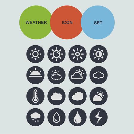 meteorology: weather meteorology forecast icon set Illustration