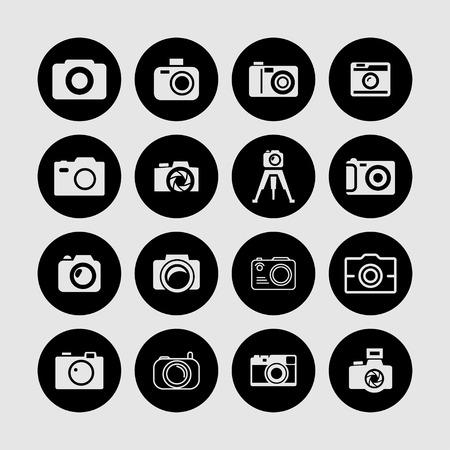 photography camera shoot icon set