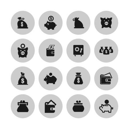 economy money finance icon set