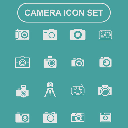 photography: Fotografie Kamera schie�en icon set