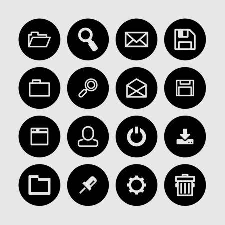 interface web: interface Web bouton ic�ne ensemble