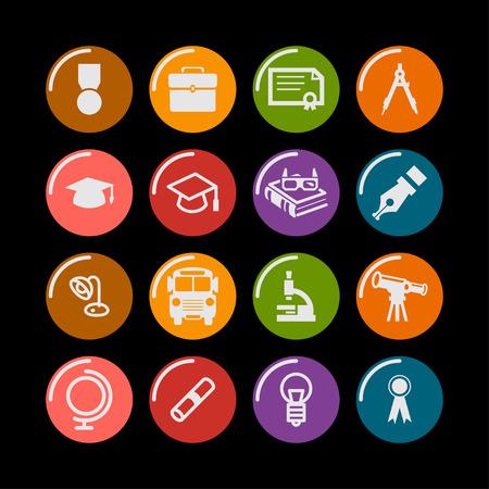 school education study science icon set Ilustração