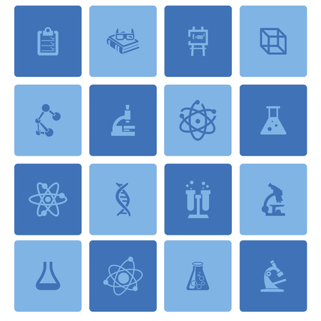 chemically: science education medicine research icon set