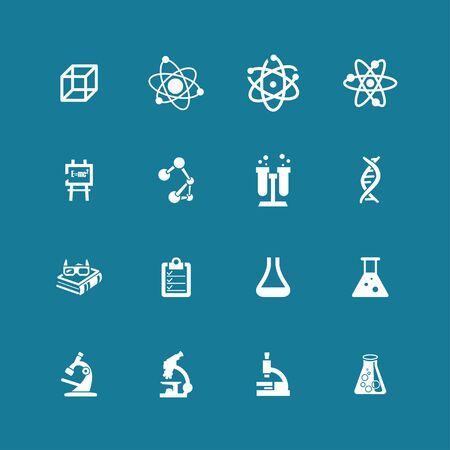 geneticist: science education medicine research icon set