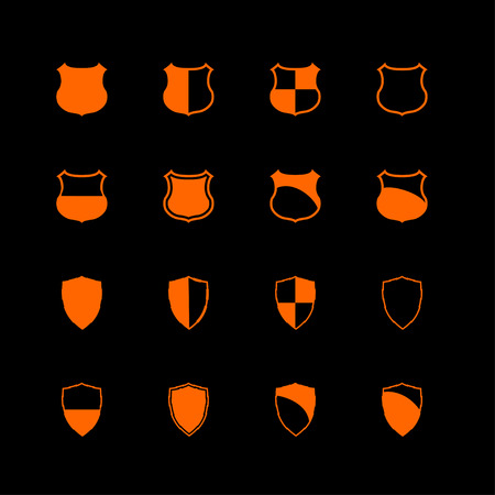 shield defense protection icon set