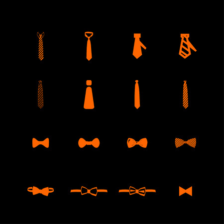 necktie: cravat necktie tie icon set
