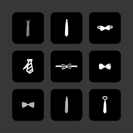cravat necktie tie icon set