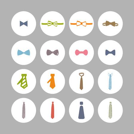 cravat: cravat necktie tie icon set