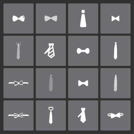 cravat necktie tie icon set