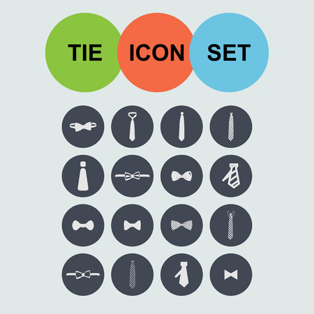 cravat: cravat necktie tie icon set
