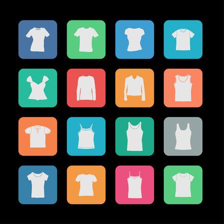 T-shirt di usura icona fasion set Archivio Fotografico - 41644098