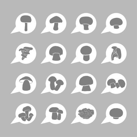 livid: mushroom icon set