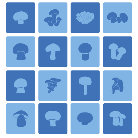 edible: mushroom icon set