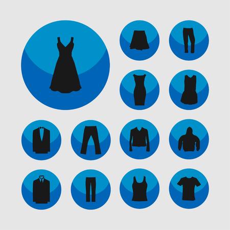 women smoking: clothes wear fasion icon set