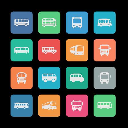 véhicule Bus icône automobile jeu