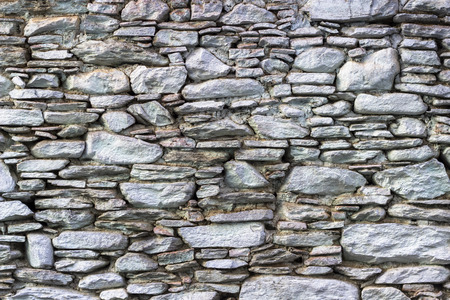 Front shoot of masonry blue tonnes stone wall as texture sample
