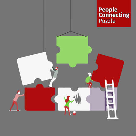 teamwork operation people cartoon isolated
