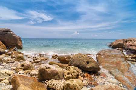 sea scape: Sea scape from view from the beach at Tachai island, Phang nga, Thailand. Stock Photo