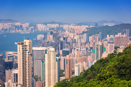 skylines: Hong Kong building skylines daytime