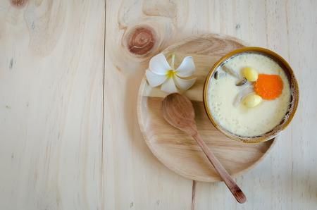 japanese cookery: thai steamed egg on table