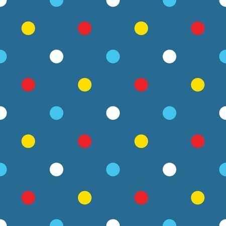 polkadot: Polka-dot circle pattern cartoon. Illustration