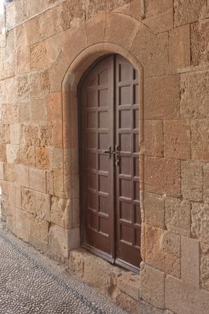 door in ancient Greek city Stock Photo