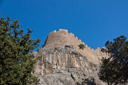 ancient Crusader fortress wall