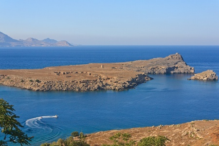 views of the Mediterranean bay from the heights Stock Photo - 12965895