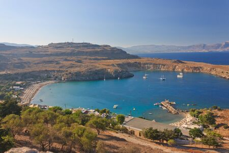 tranquil lagoon in Greece  aerial view Stock Photo - 12965876