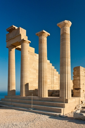 Columns of Greek acropolis
