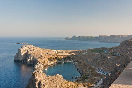 Close lagoon, aerial view