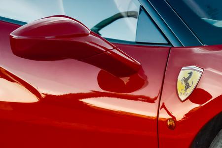 Red Flaming Ferrari 458, detail