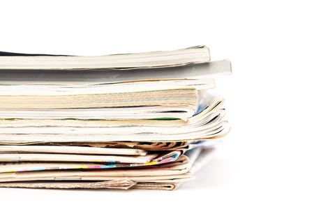 spoilage: Stack of wastepaperСЋ Isolated on white background Stock Photo