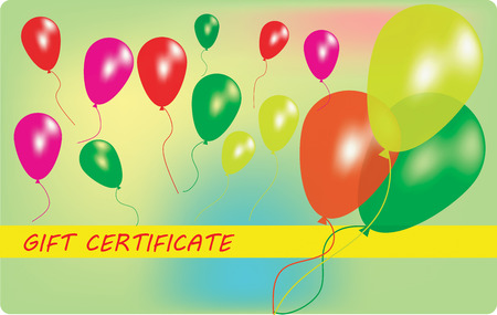 Wariant of gift certificate with balloons. EPS10 vector illustration Vector