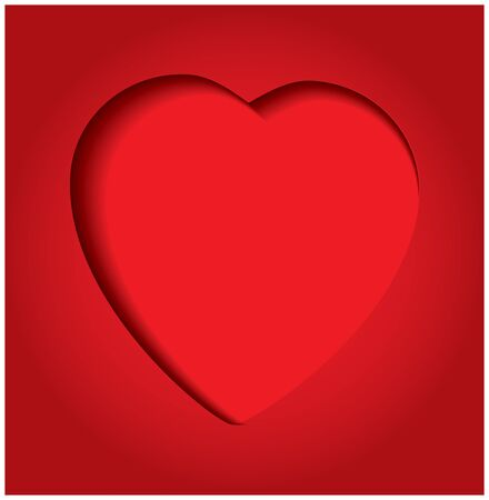Red hearts in paper. EPS10 vector illustration Vector