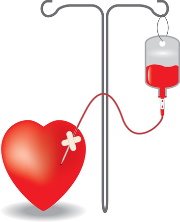 Concept of blood donation  vector illustration