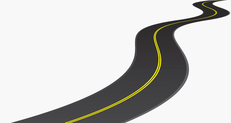 winding road: Road. Isolated on white illustrator