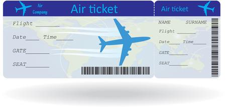 Variante Ticket isoliert auf weiß. Vektor-Illustration Standard-Bild - 27314000
