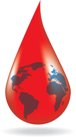 Concept of blood donation.    Vector