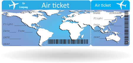 business class travel: Variant of air ticket isolated on white. Vector illustration