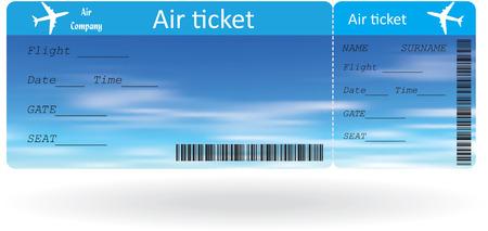 白いベクトル イラストレーション上分離した航空券のバリアント