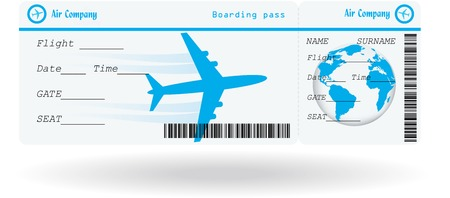 Variant of air ticket isolated on white. Vector illustration Stock Vector - 31395496