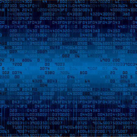 Blue security background with HEX-code. Vector illustration