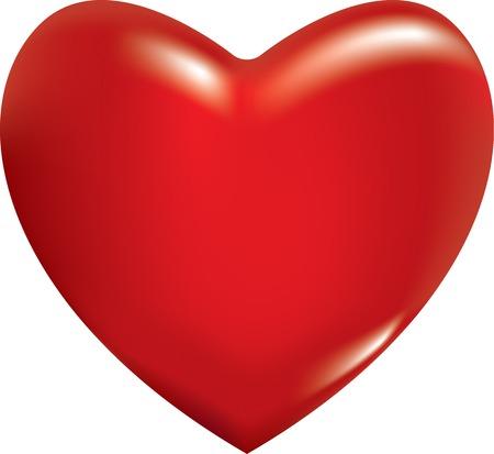 3d red heart. EPS 8 vector illustration