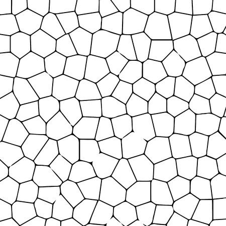 Zwarte en witte textuur van gekraakte terrein. Vector illustratie