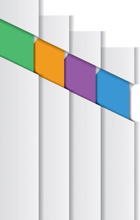 Three bookmarks. Infographic design elements. Vector illustration Vector