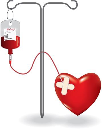 transfuse: Concept of blood donation. EPS10 vector illustration Illustration