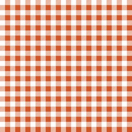 Seamless texture of orange plaid. Vector illustration Vector