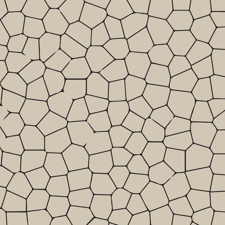 Zwarte en witte textuur van gekraakte terrein.